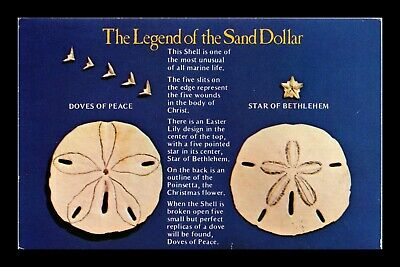 Dr Jim Stamps Us Legend Of The Sand Dollar Topical Chrome Postcard