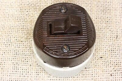 old toggle snap switch Bakelite porcelain 2 way wire vintage single pole 1920's
