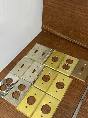 Lot of 12 Vintage Bryant And More Electrical Wall Switch Outlet Plates Antique