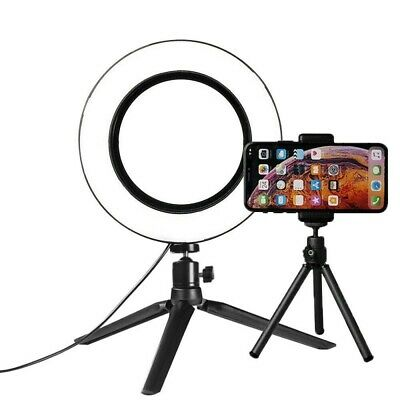 128LED Ring Fill Light Studio Photo Video USB Dimmable Lamp Selfie Cameras Phone