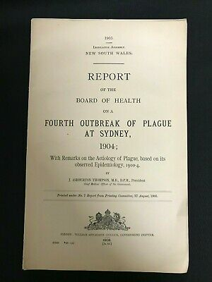 J. Ashburton Thompson Outbreak Of Plague At Sydney 1904 M599