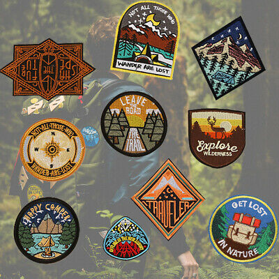Outdoor Clothes Camping DIY Jeans Decor Embroidered Patch  Applique Badges
