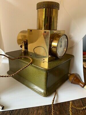 French 8 Day Platform Movement Bedside Light Up Night Clock Rare Mint Circa 1890
