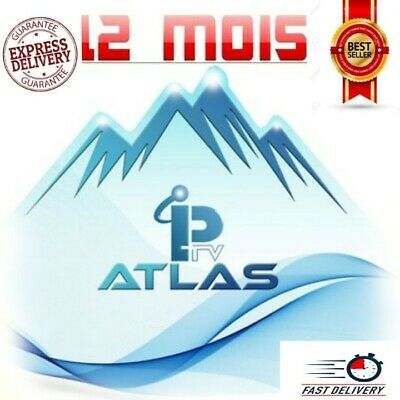 ATLAS PRO OFFICIEL CODE 12 MOIS (smart tv, box android,IOS, m3u...) envoi 10 min