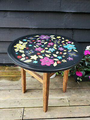 Arts and Crafts Side/coffee Table hand painted