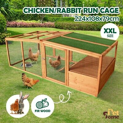 Petscene XXL Walk-in Chicken Coop Cage Rabbit Hutch Ferret Poultry Enclosure Run