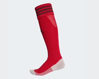 Adidas Long Sports Socks - Red - Size 4.5 to 6 - Ideal For Rugby/Hockey/Football