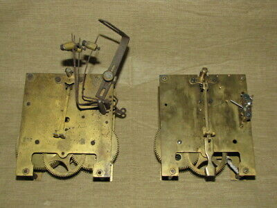 Antique Gustav Becker P 42 Clock Movements Lot of 2