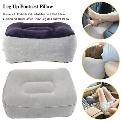 Plane Train Travel Inflatable Foot Rest Portable Pad Footrest Pillow AU