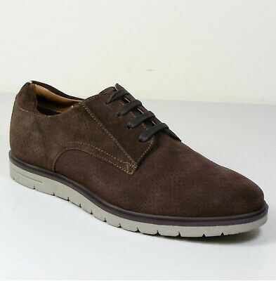 M&S Real SUEDE LEATHER Lace Up CASUAL SHOES ~ Size 8.5 ~ BROWN
