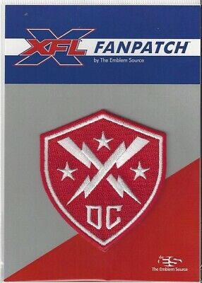 "XFL DC Defenders FanPatch - 2020 Official Jersey Logo 3"" x 2 1/2"" Patch"