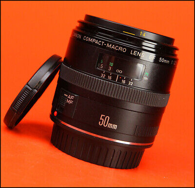 Canon EF 50mm F2.5 Compact Macro AF Prime Lens Sold with Front & Rear Lens Caps