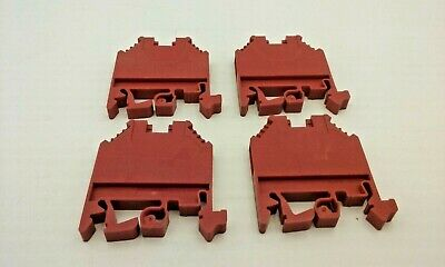 Wieland Wk4/U Terminal Block Red 600V 4Mm 20-10Awg (Lot Of 4)