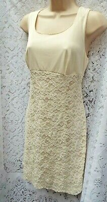 On'Nest Pas des Angel Ivory Lace Party Dress ~ High Waisted Fitted Style 42 UK14