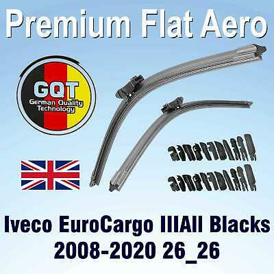 22//22 Inch Aero-D Flat Windscreen Wipers Blades For Iveco Daily Grinta 81-99