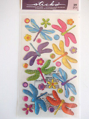 Sticko Dimensional Stickers - Dragonflies