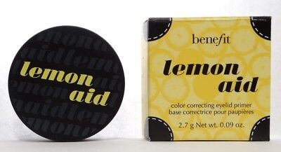 Benefit Cosmetics Lemon Aid Color Correcting Eyelid Primer .09 Ounce WITH BOX