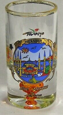 Vintage Istanbul Blue Mosque Turkey Shot Glass #4793
