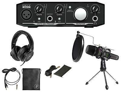 Mackie 1-Person Podcast Podcasting Recording Kit w/EM-89D Mic+Stand+Headphones