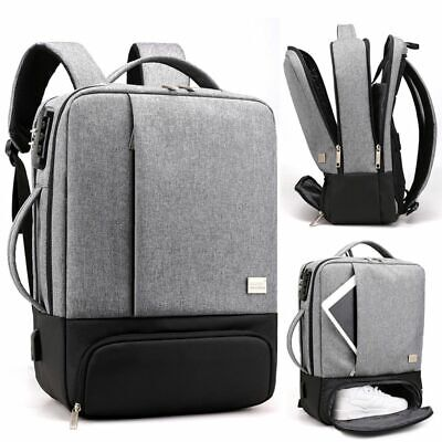 Laptop Backpack Notebook Handbag Travel Business Bag 17in Computer Anti Theft