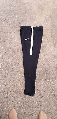 Nike Dri Fit Boys Navy Joggers / Tracksuit Bottoms Size L Age 12-13. Used