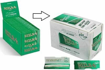 Rizla Green Cigarette Smoking Rolling Papers Made in Belgium 100% Genuine-10 Pk