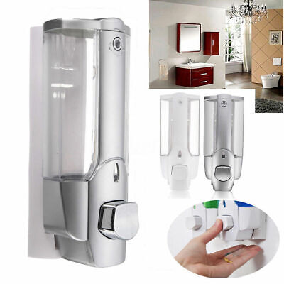 Wall Mounted Liquid Soap Dispenser Bathroom Hand Sanitizer Shower Gel Shampoo