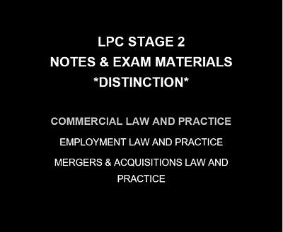 Commercial Law and Practice | LPC NOTES & EXAM MATERIALS 2019/20 | Distinction