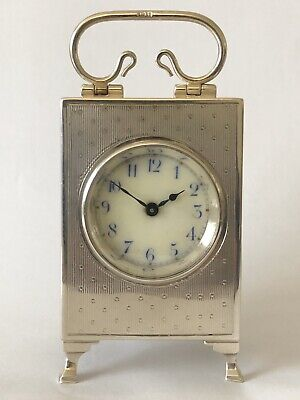 Silver Antique Carriage Clock, Mantle Clock