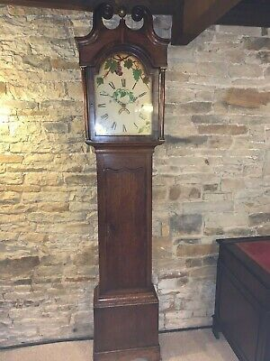 Antique Oak Longcase Clock  Grandfarter Clock Farm House Clock