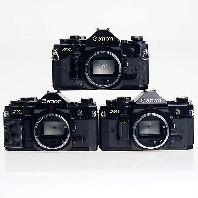 AS-IS Lot Of 3 Canon A-1 35mm Film SLR Cameras