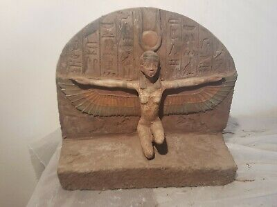 Rare Antique Ancient Egyptian Statue Goddess Isis Horus Sekhmet Toth2589–2566