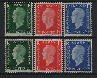 """FRANCE STAMP N° 701A / 701F """" MARIANNE DULAC SERIE 6 TIMBRES"""" NEUFS xx LUXE T931"""