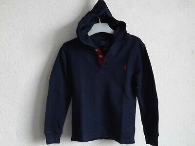 Polo Ralph Lauren boys cotton dark blue sweatshirt with hoody size 5 years