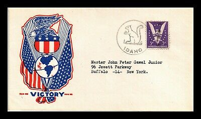 Dr Jim Stamps Us Victory Patriotic Cachet Cover Idaho Scott 905 On Cover