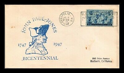 Dr Jim Stamps Us John Paul Jones Bicentennial Scott 935 On Cover Slogan Cancel