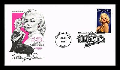 Dr Jim Stamps Us Marilyn Monroe Hollywood Legend First Day Cover