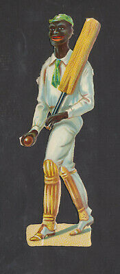 S2509 Victorian Die Cut Scraps: Large Black Cricketer