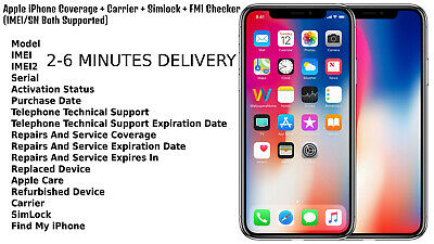 iPhone Check - Apple iPhone Coverage + Carrier + Simlock + FMI Checker I