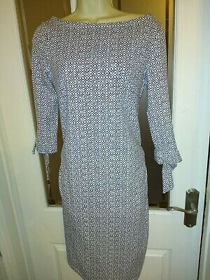Esmara Maternity Dress, small (10-12), blue & white new with tags