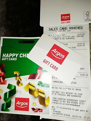 £100 Argos Gift Card Voucher Included Signed For Mail