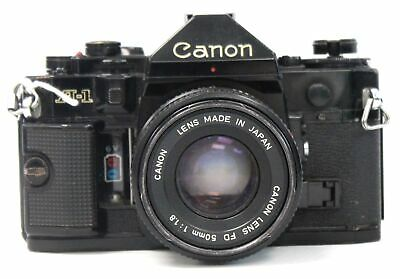 CANON A-1 SLR Camera With Canon 50mm f/1.8 FD Mount Lens  - S34
