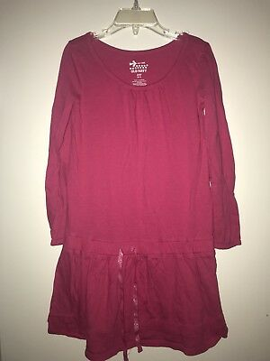 Girls Old Navy Pink Long Sleeve Dress (Size 6-7)