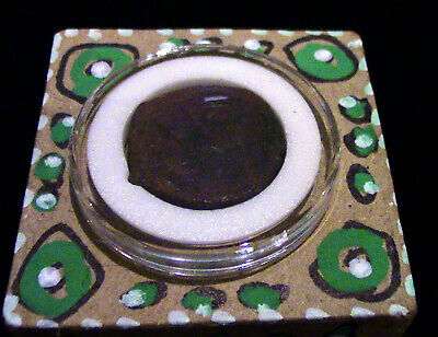 Ancient Byzantine Bronze 1500 yrs old capsuled on EJ Gold designed trinket box