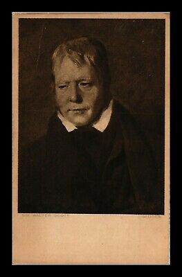 Dr Jim Stamps Sir Walter Scott Portrait Topical United Kingdom Postcard
