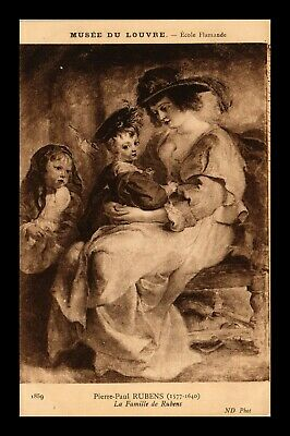 Dr Jim Stamps Family Of Rubens Painting Louvre Museum France Postcard