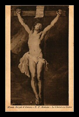 Dr Jim Stamps Christ On The Cross Painting Rubens Belgium Topical Postcard