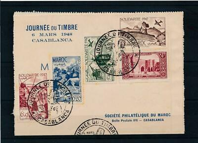 [31939] French Morocco 1948 Good First Day Card Very Nice see 2 pict