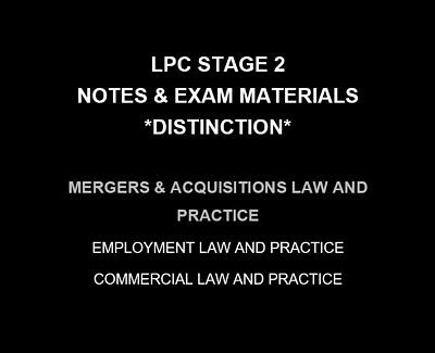 Mergers and Acquisitions | LPC NOTES & EXAM MATERIALS 2019/20 | Distinction