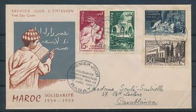 [G42447] French Morocco 1955 Good First Day Cover FDC Very Nice see picture